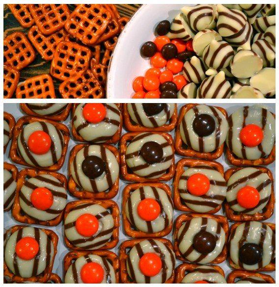 "Made these for jungle theme party, labeled them zebra tracks! ""Zebra"" Snacks - Jungle"