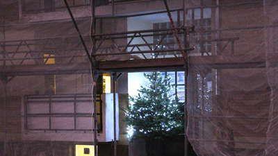 Fotostrecke: In der Straße der Gasexplosion in Ludwigshafen-Oppau steht ein Weihnachtsbaum