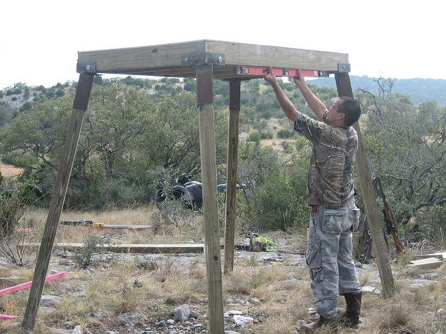 Elevated deer blinds yahoo image search results deer for Deer ground blind plans