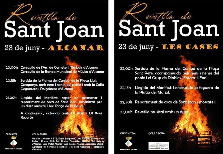 Sant Joan 2015 a Alcanar i Les Cases, 23 de juny. #GaudeixAlcanar