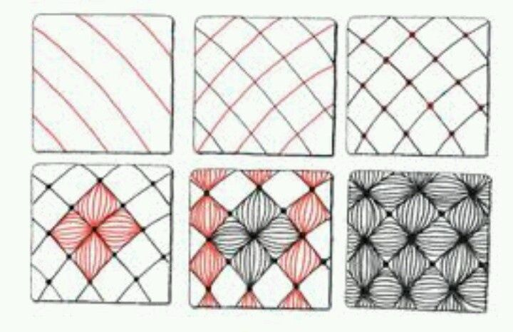 Zentangle Patterns Step By Step Google Search