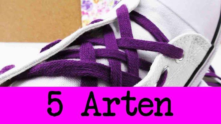 #Schuhe binden lernt man früh, sie aber so zu binden, dass sie auffallen nicht :) In diesem Video verstecken sich 5 #kreative…