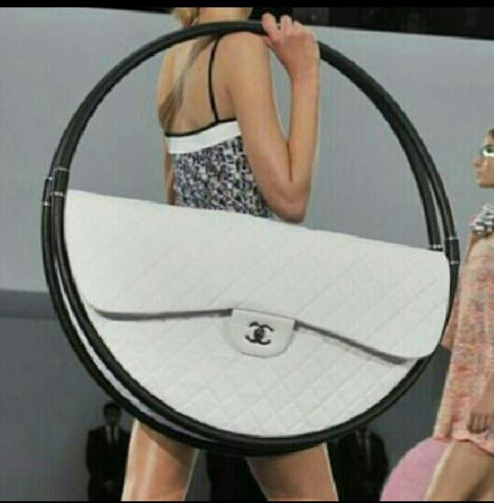 Giant Chanel hula-hoop beach bag