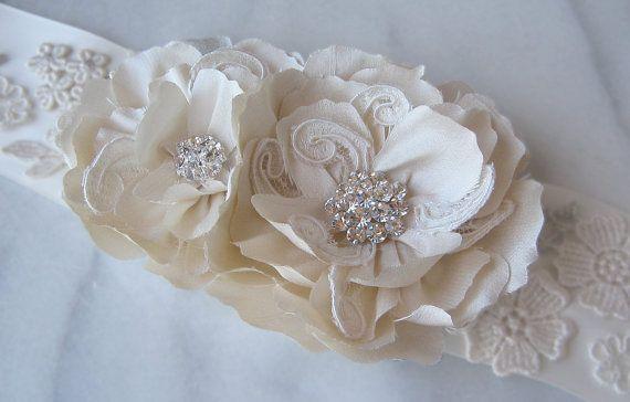 wedding dress sash   TheRedMagnolia