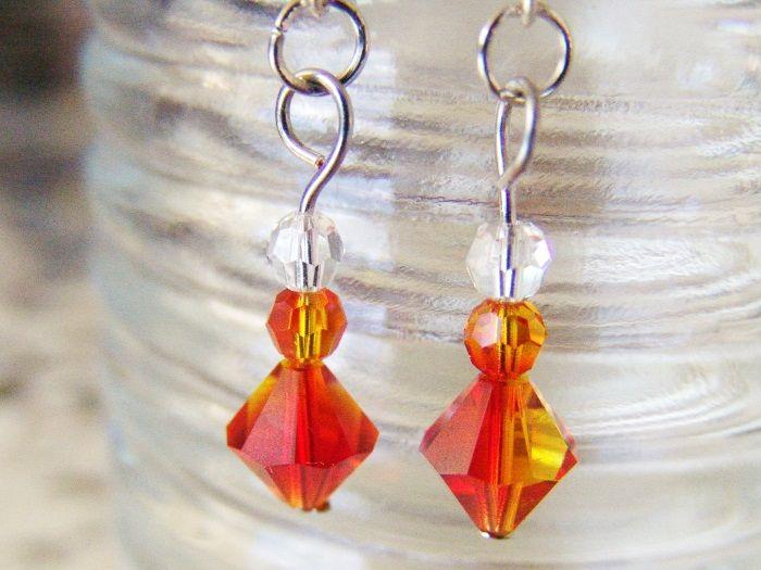 Fire Walk Crystal Earrings   Felt