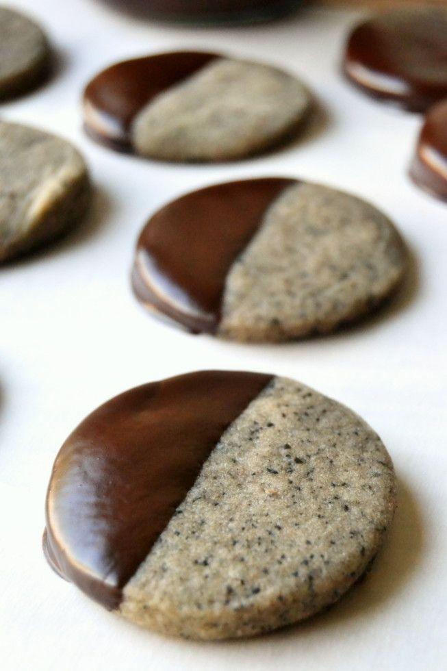 Turkish coffee shortbread cookies