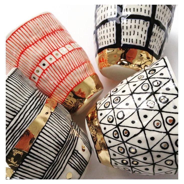 porcelain tumblers (suzanne sullivan)                                                                                                                                                                                 More