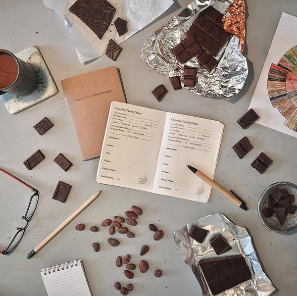 chocolate tasting notebook The Chocolate Bar craft