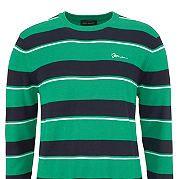 Пуловер в полоску. Небольшой вышитый логотип на груди. Круглый вырез. 50 % хлопка, 50 % полиакрила. за 1499р.- от Otto