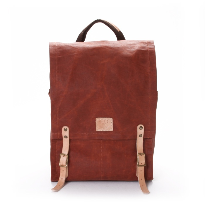 Wax Coated Canvas Backpack, for the Hipster !