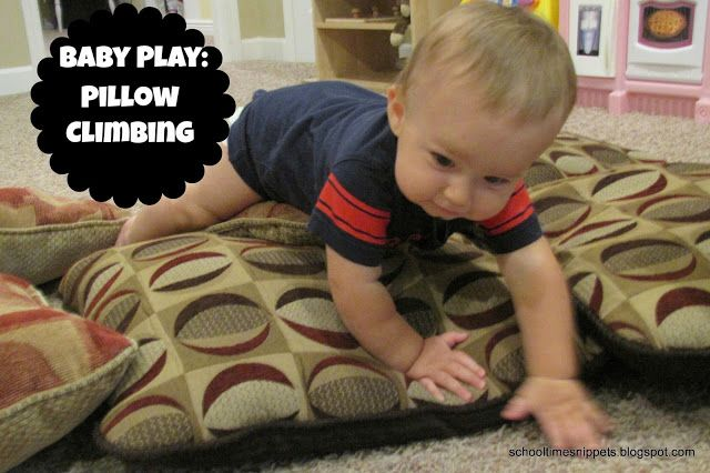 Baby Play: Pillow Climbing; fun activity for baby, siblings... and even mama!