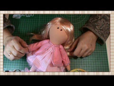 Tutorial muñeca rusa: Abrigo y pelo - YouTube