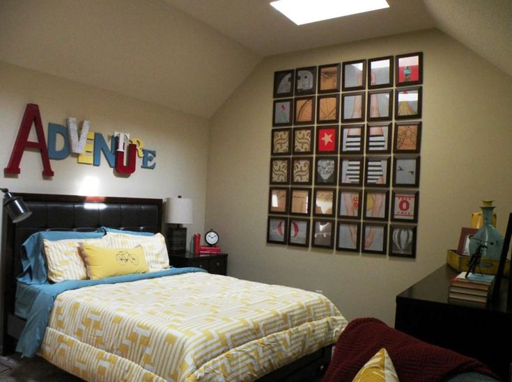 Creative Design Guest Bedroom Ideas With Unique Wall Design And Brown Bedroom Furniture Sets