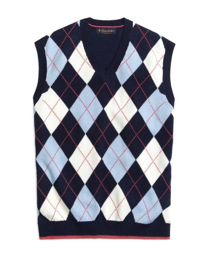 Blue Argyle Sweater