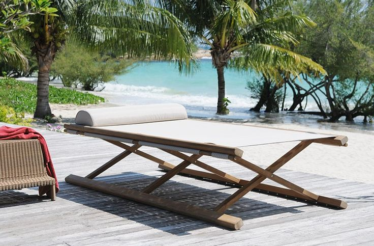 Tobago Folding bed : Steamers & Sun Loungers Contemporary - Tectona