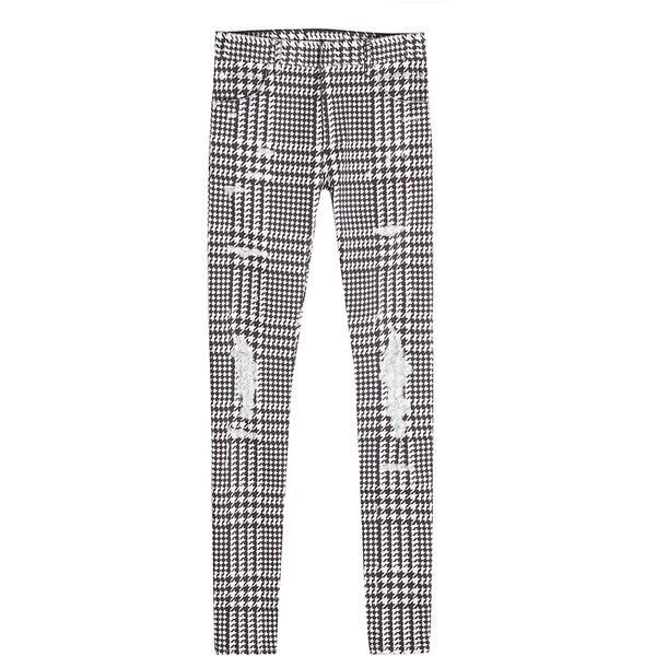 Balmain Distressed Cotton Pants ($1,055) ❤ liked on Polyvore featuring men's fashion, men's clothing, men's pants, men's casual pants, multicolored, multi color pants, torn pants, colorful pants, houndstooth pants and cotton pants
