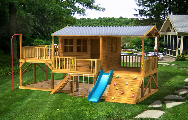 Panda Pack Kids Gym cubby house - with a large sandbox underneath... two birds??