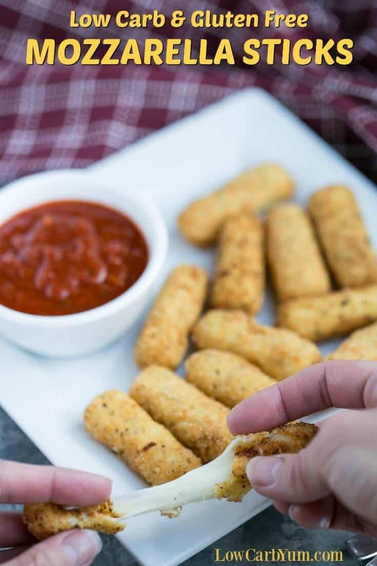 Keto Mozzarella Sticks Keto Appetizers Home Made Mozzarella