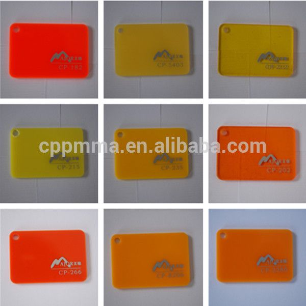 1.8-40mm colorful iridescent acrylic sheet