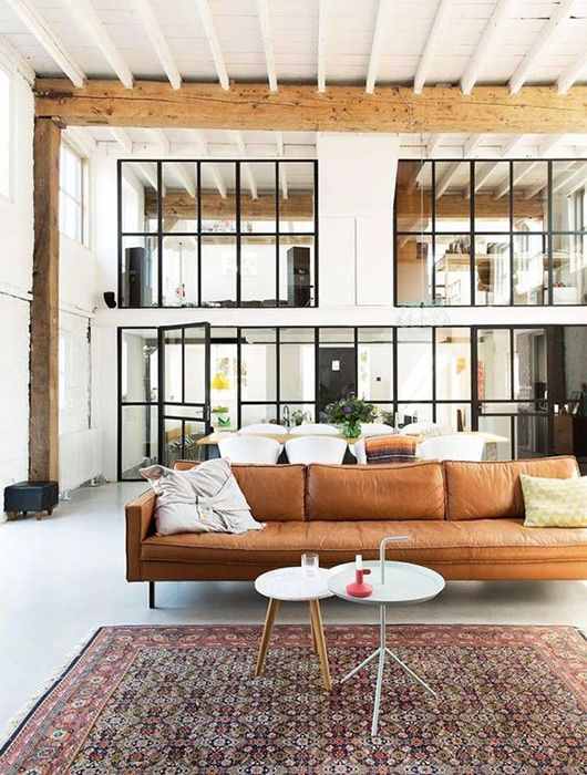 make mine tan, man. / sfgirlbybay // great leather sofa feat. DLM Table by #HAY
