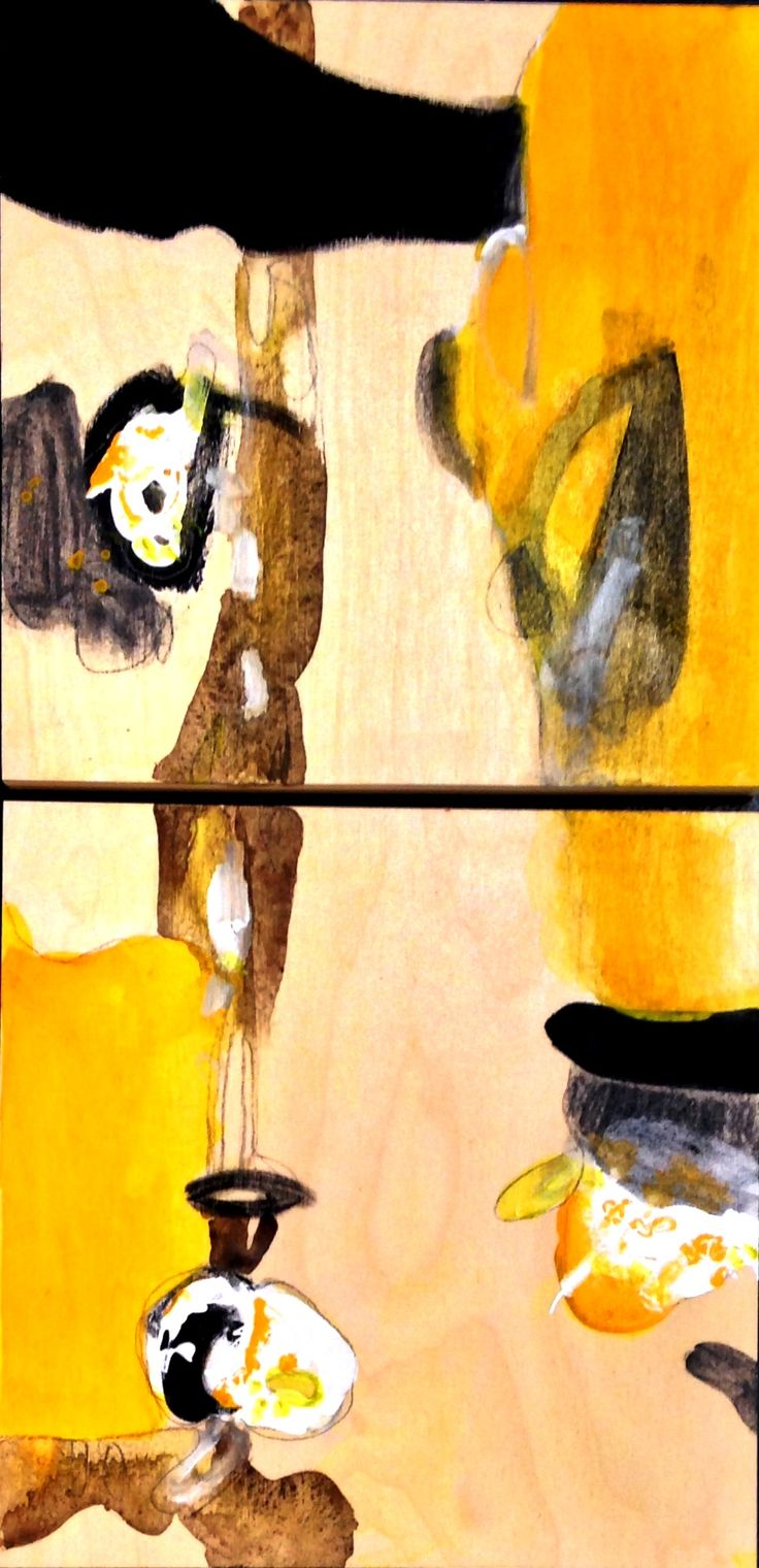 """Spring"" by Bianka Guna 2012 Series Acrylic on Wood Panels (Diptych) 24""x12"" SOLD !"