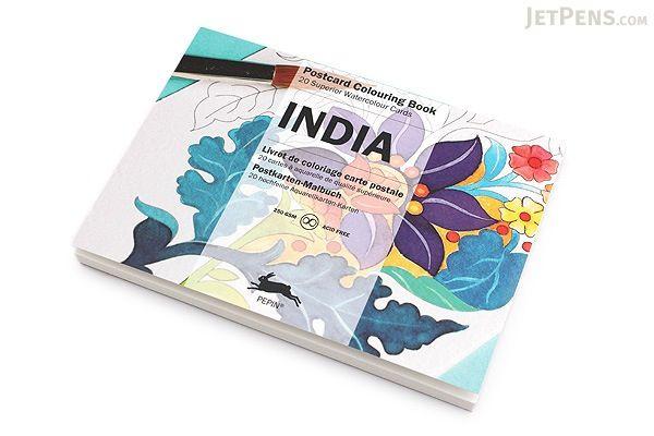 Pepin Postcard Coloring Book - India - PEPIN 96150