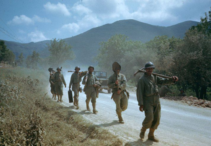 Carl Mydans—Time & Life Pictures/Getty. Troops in the Liri Valley, on the road to Rome, Italian Campaign, 1944.   Read more: http://life.time.com/history/world-war-ii-in-color-the-italian-campaign-1944/#ixzz2ZeMpoMCt