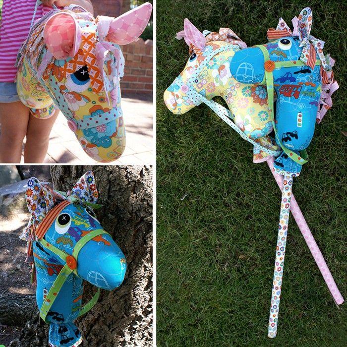 Naaipatroon van Giddy-Up!, een stokpaard