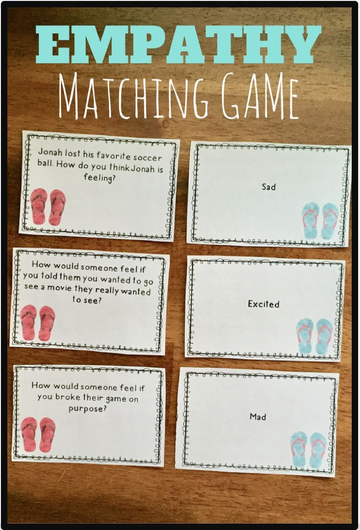 Empathy Matching Game Nurture Group Teaching Empathy
