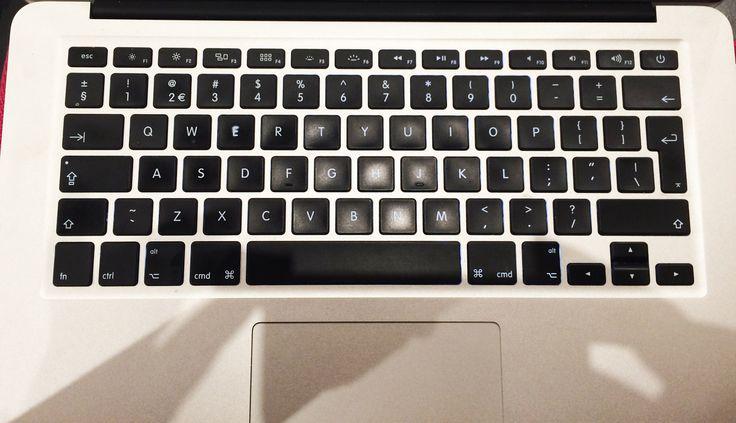 vierkante blokjes op het toetsenbord