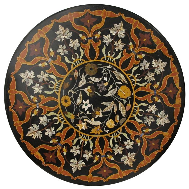 Exceptional Large Italian Pietra Dura Table Top | From a unique collection of antique and modern tables at http://www.1stdibs.com/furniture/tables/tables/