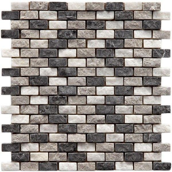 Merola Tile Griselda Subway Charcoal 12 in. x 11-1/2 in. x 9 mm... (7.070 CRC) ❤ liked on Polyvore featuring backgrounds, wall, art, wallpaper, bathroom, phrase, effect, saying, text and texture
