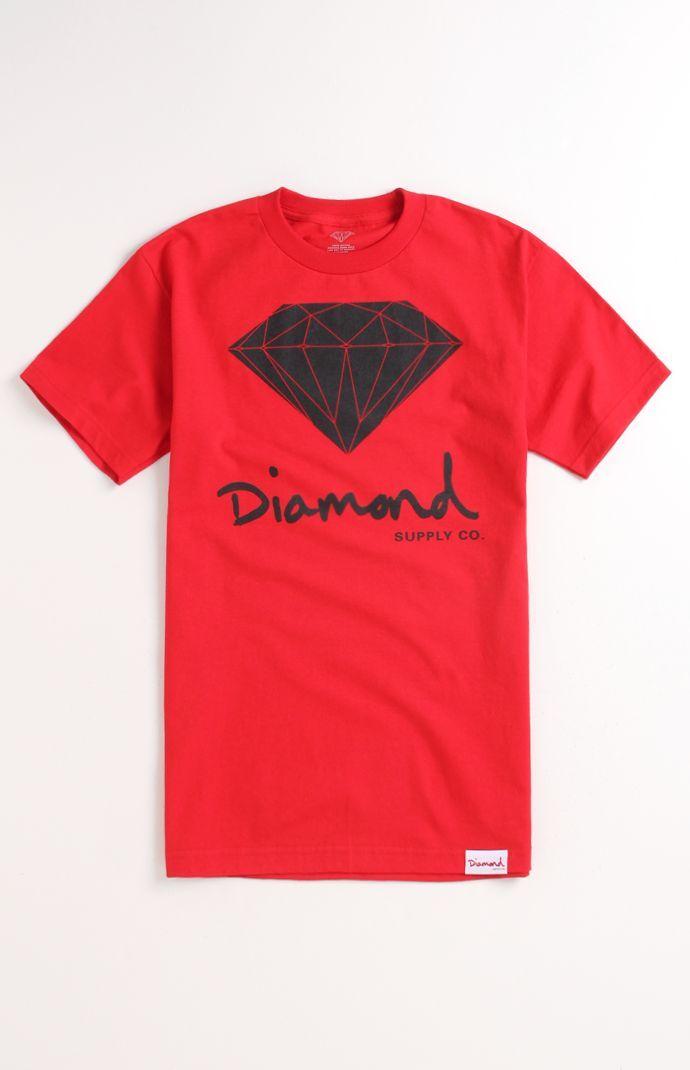 Mens Diamond Supply Co Tee - Diamond Supply Co Script Logo T-Shirt