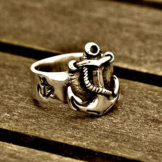 Beautiful silver #anchor #ring for him #mens #jewelry