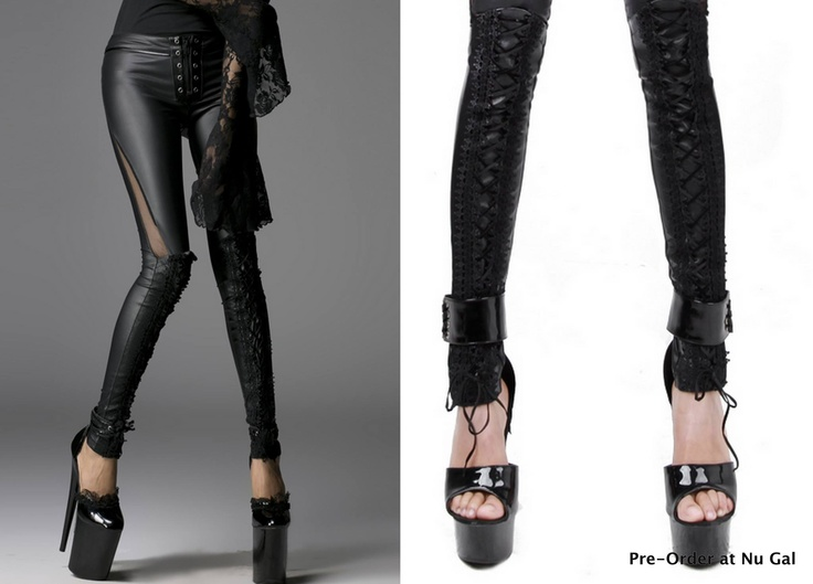 Goth Leggings Nu Gal Unique Limited Fashion My Dark Side Pinterest Punk Fashion