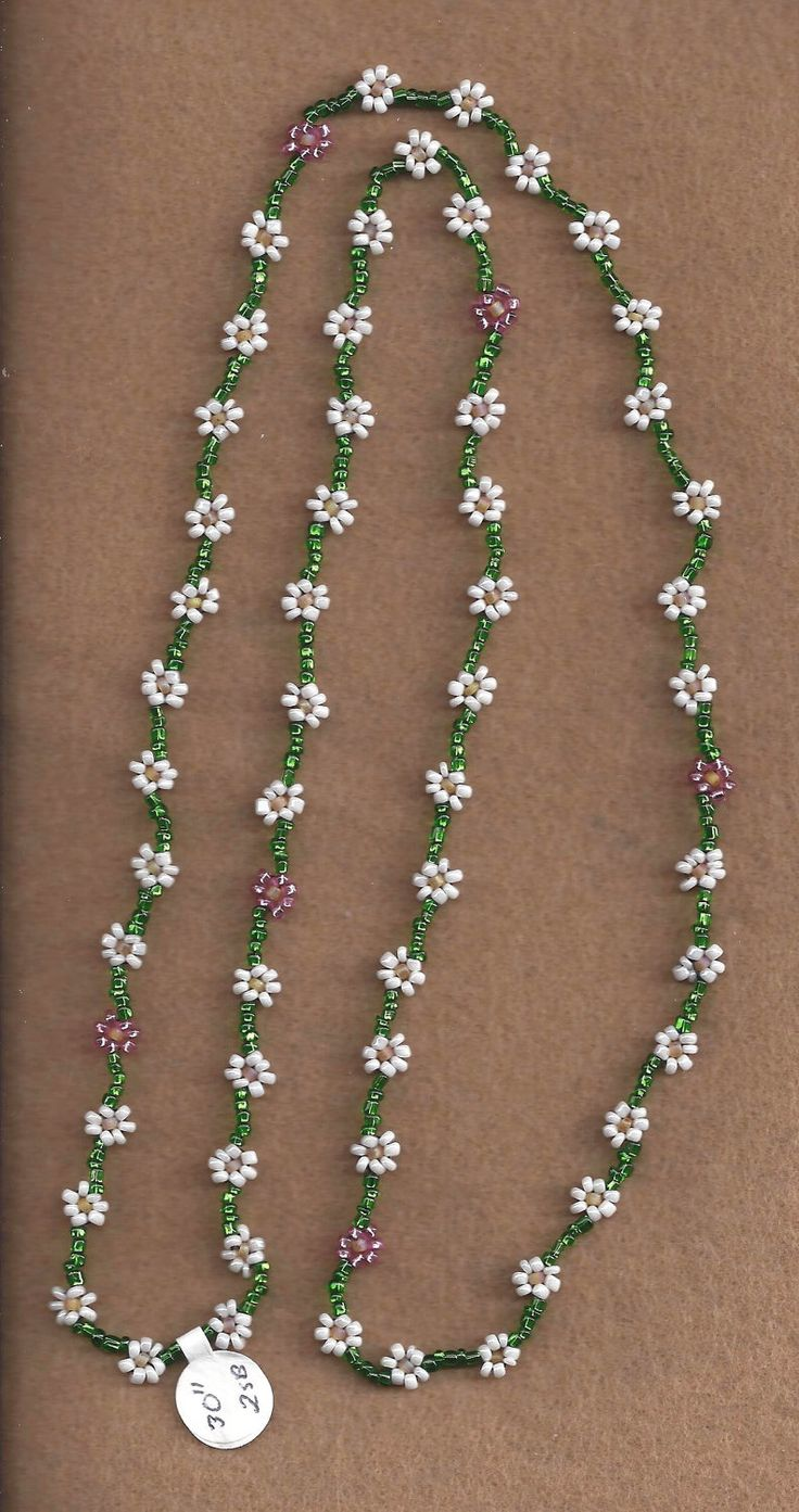 Daisy Chain Necklace by SnowRabbitDesigns on Etsy