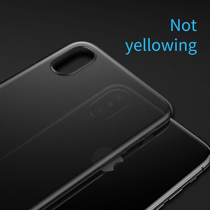 Baseus PP 0.45mm Ultra Thin Anti Fingerprint Case Cover for iPhone X Sale - Banggood.com