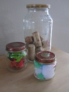 Estimation Jars - Estimate, record, count and record math manipulatives