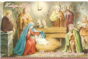 Zalige kerst en voorspoedig Nieuwjaar!   katholieke kerstkaarten met kerststal