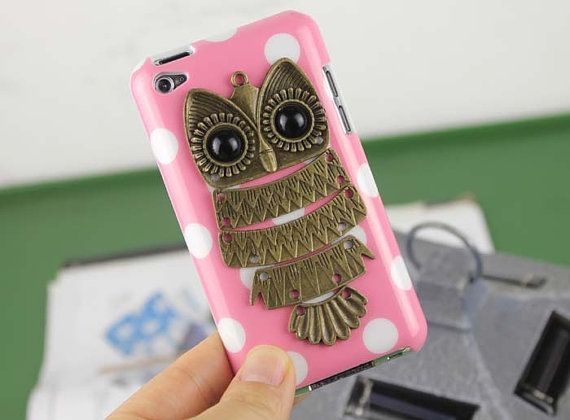 iPod 4th Generation owl Cases | Cute Owl Pink Hard Case Cover for Apple Ipod Touch 4, iPod Touch 4th ...