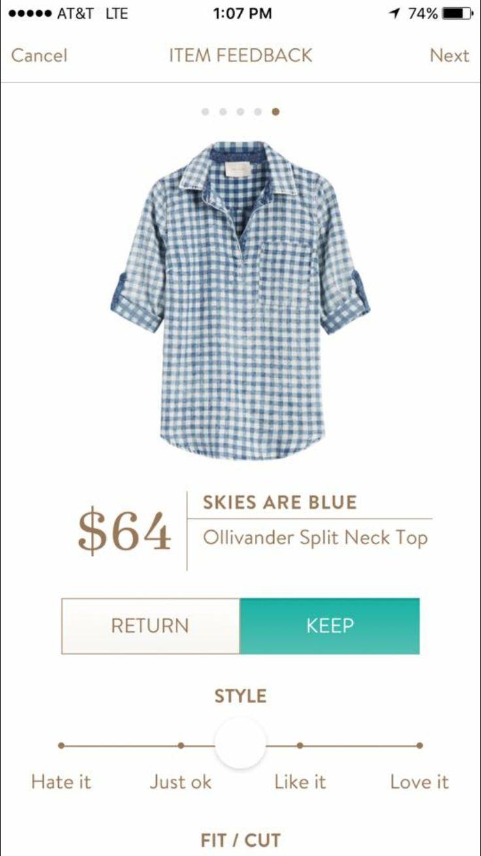 Skies are Blue Ollivander Split Neck Top