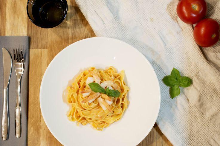 AMAZING Shrimp garlic pasta