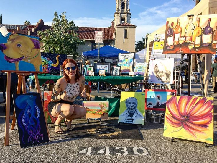 Another successful week at the Riverside Artswalk! . This is now my monthly tradition. Come by and check out my art every First Thursday of each month from 6-9pm at the corner of Lemon & University in Downtown Riverside.  . . . . . #CreatingColorfully #LivingColorfully  #RiversideCA #IE #InlandEmpire #GirlBoss #LadyHustle #PositiveVibes #freelance #artist #art #customart #wallart #petportaits #portraits #portraitpaintings #artswalk #professionalservices