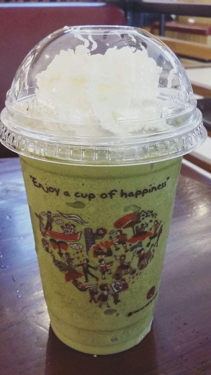 Japanese green tea latte