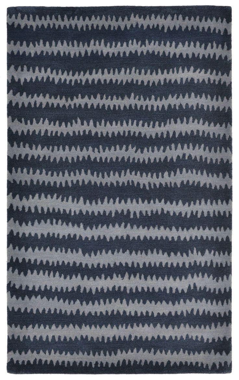 $855 Inca Ikat Chevron Denim Indoor Rug