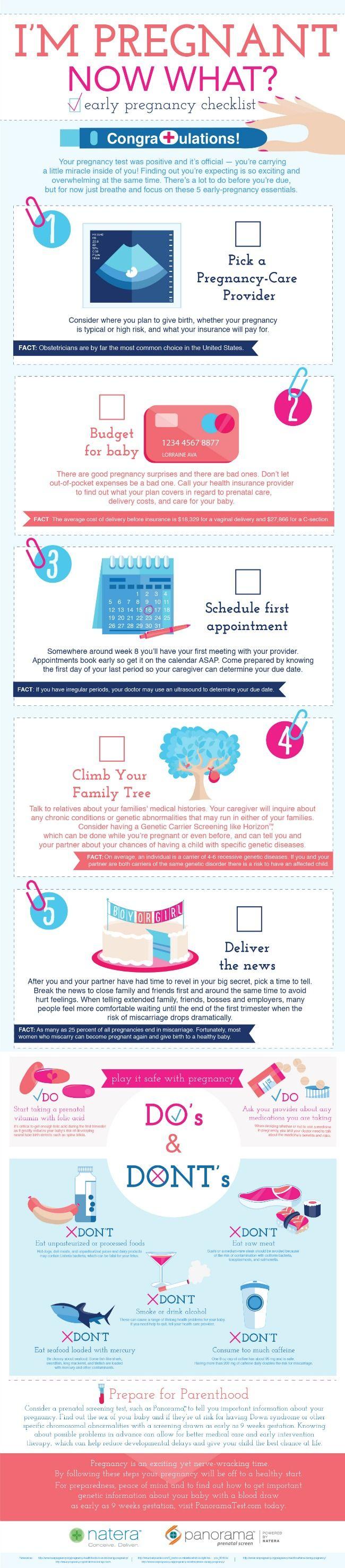 Early Pregnancy Checklist