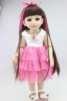 18 pulgadas de vinilo de silicona muñeca realista Baby Alive muñeca de colección muchacha de la princesa Custom renacida muñeca juguetes regalo navidad