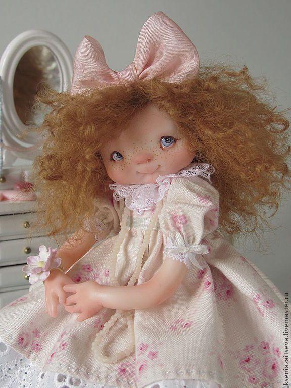 """Купить """"Малгося - красавица"""" - авторская кукла, коллекционная кукла, куклы ксении зайцевой, девочка, малышка"""