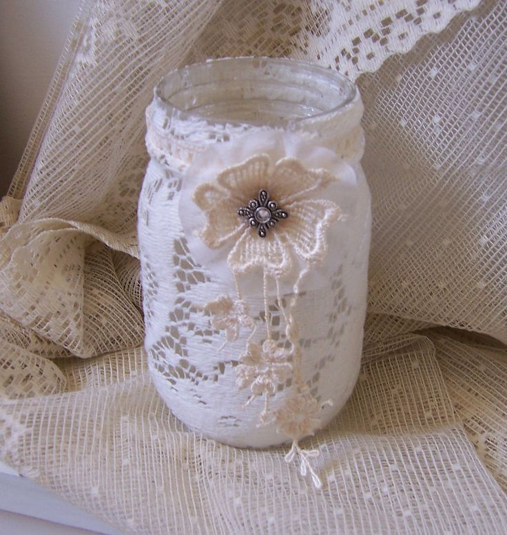 decorate jars for weedings | ... flameless candle french country decorating, weddings, bridal shower