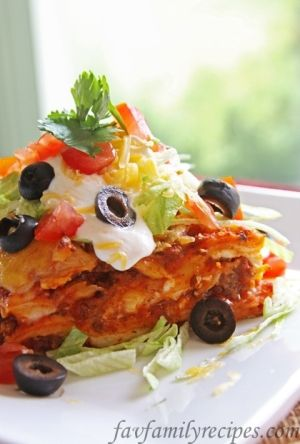 Mexican Lasagna by bobbie | MeHeCan | Pinterest